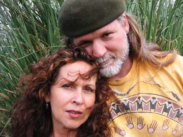 Jonny Gieber with his beautiful wife!.  His trainings are groovy and heartfelt!