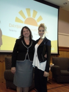 Annette, DayBreak Youth Services Director and Tara, Former Miss USA!